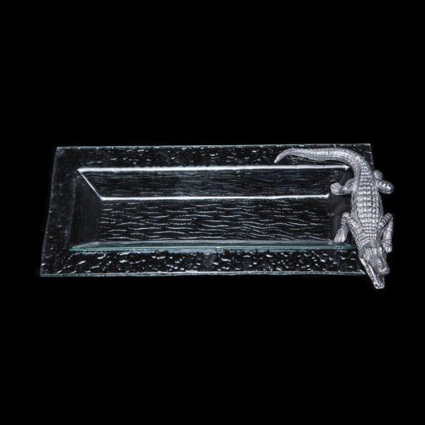 Alligator_Glass_Oblong_Tray_BLK