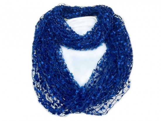 Family Jewels And Purse Strings Blue Lightweight Confetti Knit